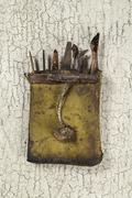 antique lacquer tool (still life) - stock photo