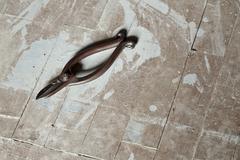 rusty scissor (stilllife) - stock photo