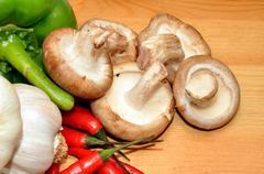 Fresh Food Ingredients Stock Photos