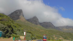 A view of the the Capetown coastal drive Stock Footage