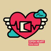 Open heart and mind freedom concept illustration Stock Illustration