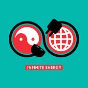 Infinite energy concept illustration Stock Illustration