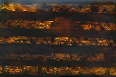 Orange brown pattern lacquer paint Stock Photos