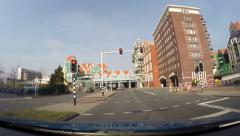 ZAANDAM, THE NETHERLANDS vehice shot town hall and station building Stock Footage