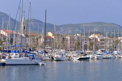 Port of Sanary-sur-Mer in France Stock Photos