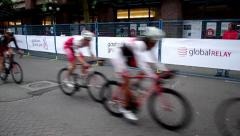 Gastown Grand Prix Bicycle Race in Vancouver -720p 60fps Stock Footage