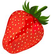 ripe red strawberries. - stock illustration