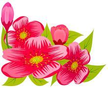 Pink flowers. Stock Illustration