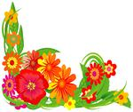 Stock Illustration of decorative flowers.