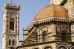 Stock Photo of ornate facade of the duomo of florence, italy
