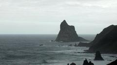 Roque de Dentro at Tenerife - stock footage