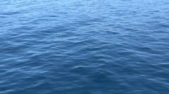 Blue water and waves Stock Footage