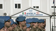 Stock Video Footage of italian peacekeeper unifil battalion