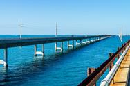 Stock Photo of the seven mile bridge, keys, florida