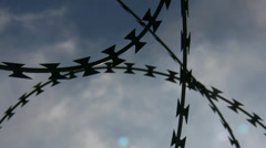 Security razor wire Stock Footage