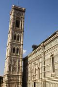 Bell tower and dome of the cathedral of florence, italy Stock Photos