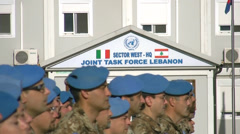 Unifil italian soldiers Stock Footage
