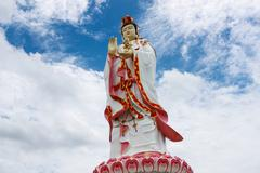 Stock Photo of statue of godness guan yin in thailand