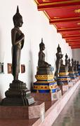 buddhas statue at the temple - stock photo