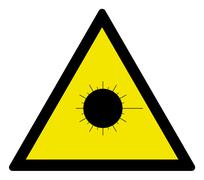 Laser caution - stock illustration