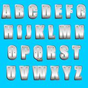 Metal font type Stock Illustration