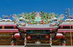 Chinese temple roof architecture Stock Photos