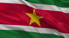 Flag of Suriname - seamless loop Stock Footage