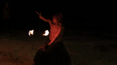 Fire show festival at the beach in Philippines Stock Footage