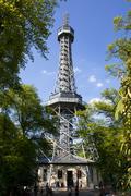 Stock Photo of Prague - Petřín outlook-tower
