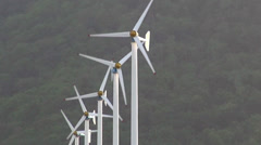 An array of wind turbines - KP11 Stock Footage