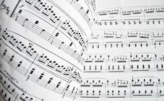White musical score Stock Photos