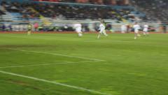 Soccer goalkeeper's  saving after contra attack Stock Footage