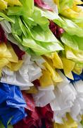 Plastic bags colorful artwork Stock Photos