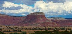 Mesa in the dessert by Taos, NM - stock photo