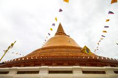 Phra pathom chedi temple in nakhon pathom province, thailand. Stock Photos