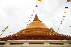 phra pathom chedi temple in nakhon pathom province, thailand. - stock photo