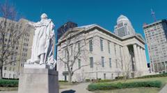 Louisville Metro Hall Downtown King Louis XVI HD - stock footage