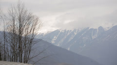 Sochi mountain view from the cabin cableway Stock Footage