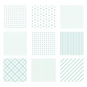 Simple pattern set Stock Illustration