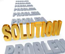 Stock Illustration of a solution stands up