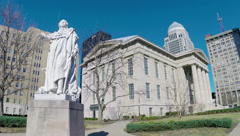 Louisville Metro Hall Downtown King Louis XVI 2.7K - stock footage