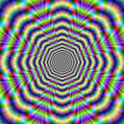 Psychedelic Octagon Pulse - stock illustration