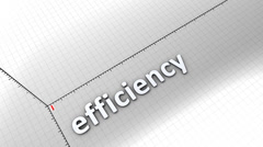 Growing chart - Efficiency, business, statistic, growth, improvement. Stock Footage