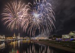 Fireworks in Dresden Stock Photos