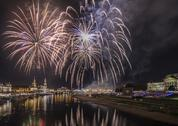 Stock Photo of Fireworks in Dresden