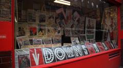 Vintage Magazine Store London Stock Footage