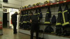 Emergency Call - Fire Service Getting Ready Stock Footage