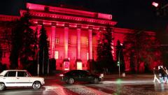 Red building of Kiev National University, Ukraine - stock footage