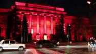 Stock Video Footage of Red building of Kiev National University, Ukraine