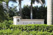 Stock Photo of city of weston, florida sign